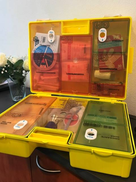 De verplichte inhoud van een EHBO-koffer